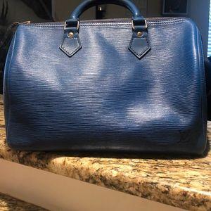 💙Vintage Louis Vuitton Epi Blue Leather Satchel